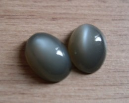 VERY NICE PAIR OF NATURAL MOONSTONES 18,67CTS