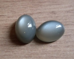 VERY NICE PAIR OF NATURAL MOONSTONES 14,46 CTS