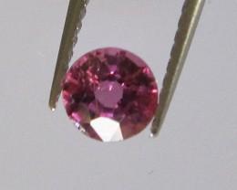 Beautiful Hot Pink Tourmaline Round 4.3mm, 0.37cts