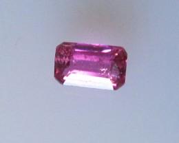 Beautiful Hot Pink Tourmaline Emerald Cut, 0.18cts