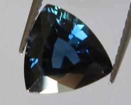 1.27cts Australian Trillion Shape Blue Sapphire