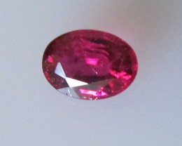 Super Hot Pink Tourmaline Oval, 0.36cts