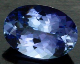 0.60 CTS CERTIFIED VVS TANZANITE STONE - WELL CUT [ZST159]