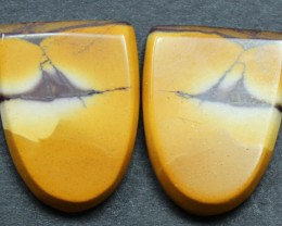 12.50 CTS MOOKAITE JASPER CABOCHON PAIR PERFECT FOR EARRINGS