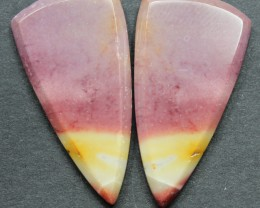 22.90 CTS MOOKAITE JASPER CABOCHON PAIR PERFECT FOR EARRINGS