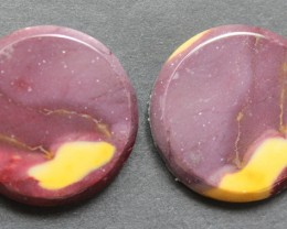33.50 CTS MOOKAITE JASPER CABOCHON PAIR PERFECT FOR EARRINGS