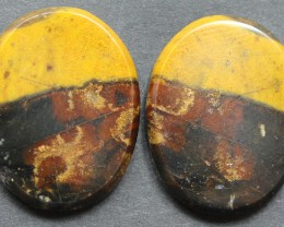 35.50 CTS MOOKAITE JASPER CABOCHON PAIR PERFECT FOR EARRINGS