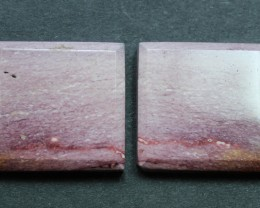 30.30 CTS MOOKAITE JASPER CABOCHON PAIR PERFECT FOR EARRINGS