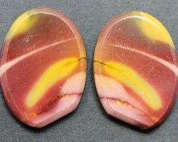 22.30 CTS MOOKAITE JASPER CABOCHON PAIR PERFECT FOR EARRINGS