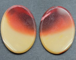 20.45 CTS MOOKAITE JASPER CABOCHON PAIR PERFECT FOR EARRINGS