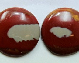 27.50 CTS NOREENA JASPER PAIR PERFECT FOR EARRINGS