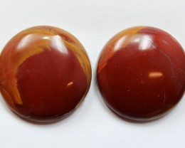 26.60 CTS NOREENA JASPER PAIR PERFECT FOR EARRINGS