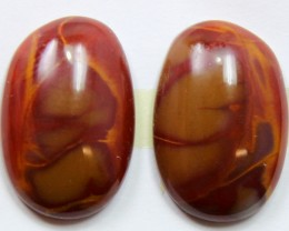 13.40 CTS NOREENA JASPER PAIR PERFECT FOR EARRINGS