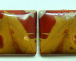 18.50 CTS NOREENA JASPER PAIR PERFECT FOR EARRINGS