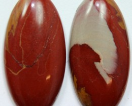 29.40 CTS NOREENA JASPER PAIR PERFECT FOR EARRINGS