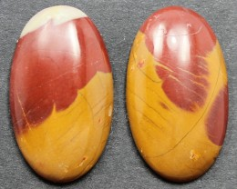 17.30 CTS NOREENA JASPER PAIR PERFECT FOR EARRINGS