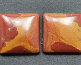 26.00 CTS NOREENA JASPER PAIR PERFECT FOR EARRINGS