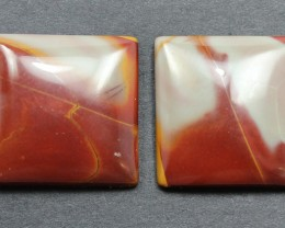 26.95 CTS NOREENA JASPER PAIR PERFECT FOR EARRINGS