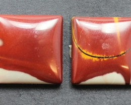 21.90 CTS NOREENA JASPER PAIR PERFECT FOR EARRINGS