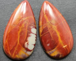 33.40 CTS NOREENA JASPER PAIR PERFECT FOR EARRINGS