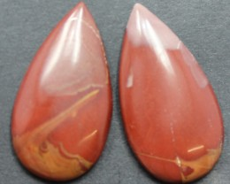 33.65 CTS NOREENA JASPER PAIR PERFECT FOR EARRINGS