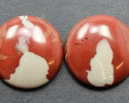 25.70 CTS NOREENA JASPER PAIR PERFECT FOR EARRINGS