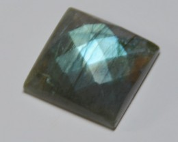 NEW ITEM Square LABRADORITE faceted cabochon 16 by 6mm