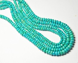 "5mm - 6mm AAA ARIZONA Turquoise blue faceted beads 14"" line tur008"