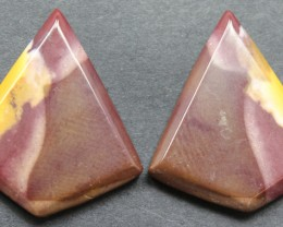 20.25 CTS MOOKAITE JASPER CABOCHON PAIR PERFECT FOR EARRINGS