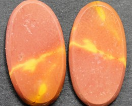 17.60 CTS MOOKAITE JASPER CABOCHON PAIR PERFECT FOR EARRINGS