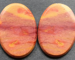 22.05 CTS MOOKAITE JASPER CABOCHON PAIR PERFECT FOR EARRINGS