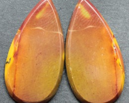 23.20 CTS MOOKAITE JASPER CABOCHON PAIR PERFECT FOR EARRINGS
