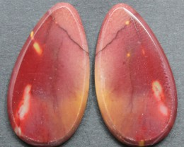 24.55 CTS MOOKAITE JASPER CABOCHON PAIR PERFECT FOR EARRINGS