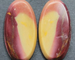 37.20 CTS MOOKAITE JASPER CABOCHON PAIR PERFECT FOR EARRINGS
