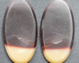25.70 CTS MOOKAITE JASPER CABOCHON PAIR PERFECT FOR EARRINGS