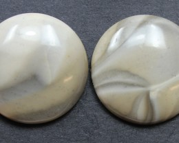 35.65 CTS IMPERIAL JASPER PAIR PERFECT FOR EARRINGS