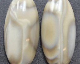 28.50 CTS IMPERIAL JASPER PAIR PERFECT FOR EARRINGS