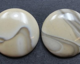 34.65 CTS IMPERIAL JASPER PAIR PERFECT FOR EARRINGS