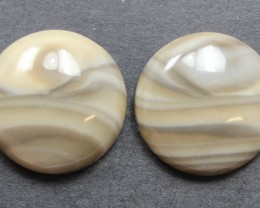 22.15 CTS IMPERIAL JASPER PAIR PERFECT FOR EARRINGS