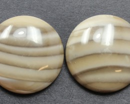 20.15 CTS IMPERIAL JASPER PAIR PERFECT FOR EARRINGS