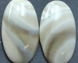29.60 CTS IMPERIAL JASPER PAIR PERFECT FOR EARRINGS