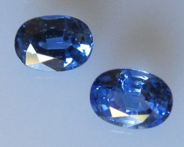 Matching Pair Blue Sapphire Ovals, 1.61cts