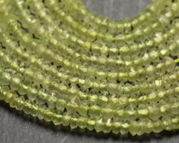 """AAA PREHNITE faceted beads 2.5 to 3mm 14"""" pre001"""