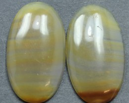 27.10 CTS WYOMING AGATE PAIR PERFECT FOR EARRINGS