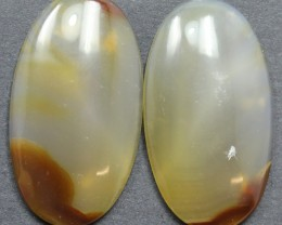 35.15 CTS WYOMING AGATE PAIR PERFECT FOR EARRINGS
