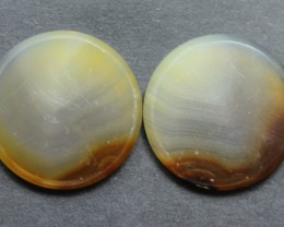37.20  CTS WYOMING AGATE PAIR PERFECT FOR EARRINGS