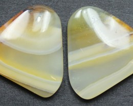 17.90 CTS WYOMING AGATE PAIR PERFECT FOR EARRINGS