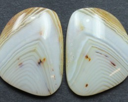 28.55 CTS WYOMING AGATE PAIR PERFECT FOR EARRINGS