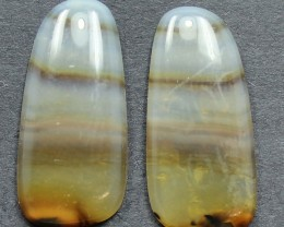 10.85 CTS WYOMING AGATE PAIR PERFECT FOR EARRINGS