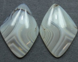 15.80  CTS WYOMING AGATE PAIR PERFECT FOR EARRINGS